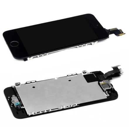 iPhone 5S - Skärm LCD Display Komplett med smådelar (SVART)