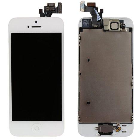 iPhone 5C - Skärm LCD Display Komplett med smådelar (VIT)