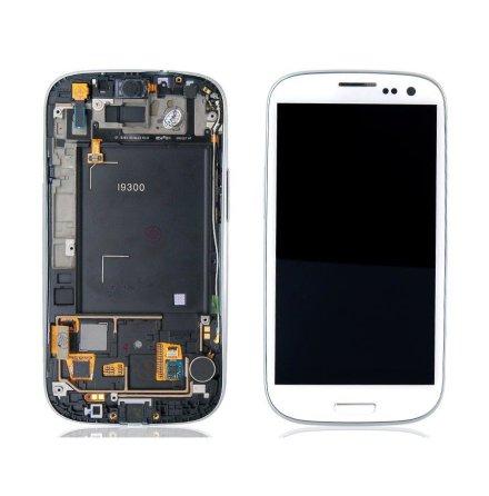 Samsung Galaxy S3 (i9300) - LCD Display Skärm VIT (Inkl Ram)