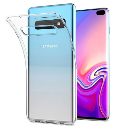 Samsung Galaxy S10 - Smart Skyddsskal i Silikon från FLOVEME