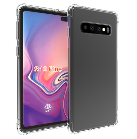 Samsung Galaxy S10 Plus - Tunt Silikonskal med Airbagfunktion