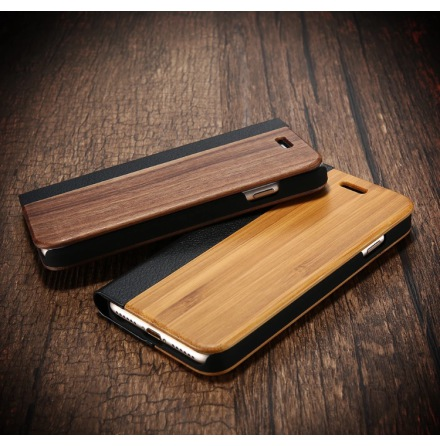 Iphone 6/6S Plus - Exklusivt Fodral i Bamboo Trä Hög kvalité