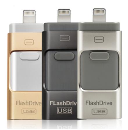 USB/Lightning Minne - Flash (Spara ner allt från telefonen!)