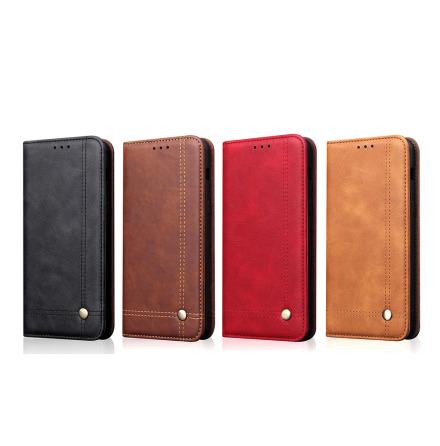 LEMAN Stilrent Plånboksfodral för Samsung Galaxy S10 Plus