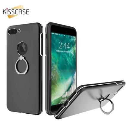 Praktiskt iPhone 7 skal med ringhållare från KISSCASE