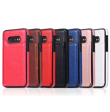 Samsung Galaxy S10e - NKOBEE Läderskal med Plånbok/Kortfack