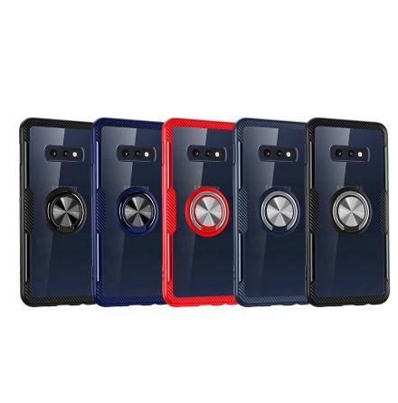Samsung Galaxy S10e - Stilrent Skal med Ringhållare (LEMAN)