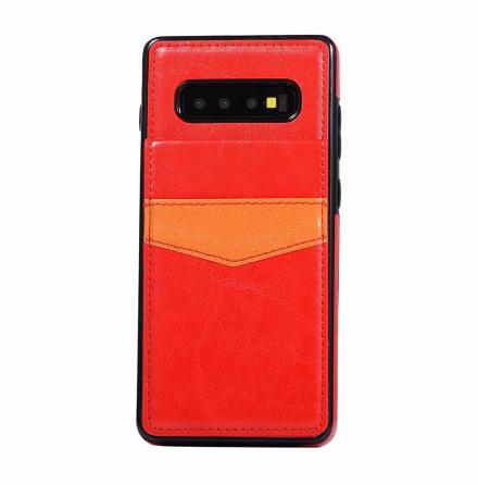 Samsung Galaxy S10 Plus - Praktiskt Stilsäkert Skal med Kortfack