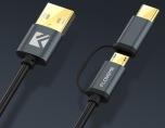 FLOVEME's smarta 2 i 1 USB-kabel Type-C/Micro-USB
