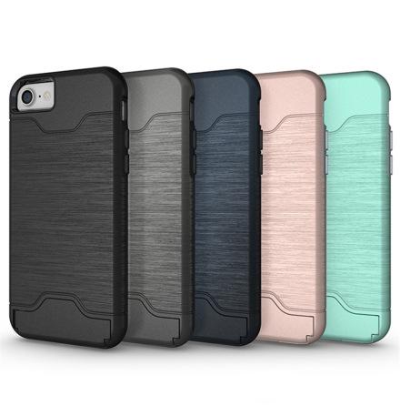 iPhone 7 - Stilsäkert Skyddsskal med Kortfack (JENSEN)