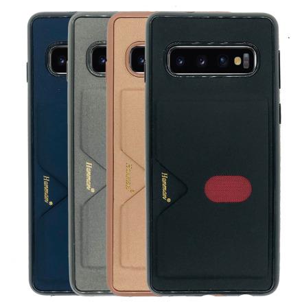 Samsung Galaxy S10 - Exklusivt Praktiskt Skal Kortfack (HANMAN)