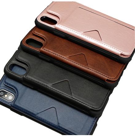 iPhone X/XS - Stilrent Skal med Kortfack (HANMAN)