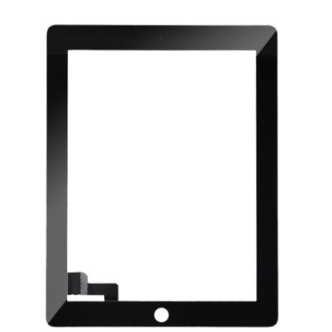iPad 2 Touchscreen med Digitizer (SVART) inklusive Hemknapp