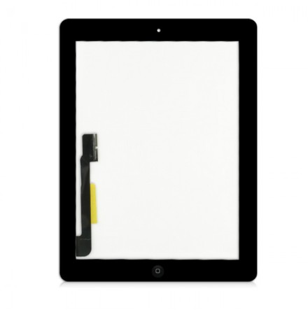 iPad 3 Touchscreen med Digitizer (SVART) inklusive homeknapp
