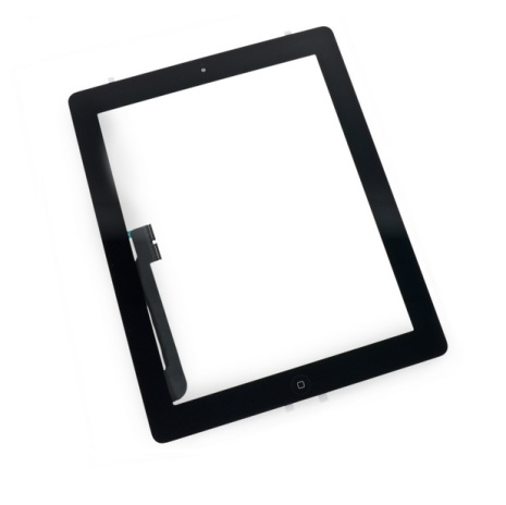 iPad 3/4 Touchscreen med Digitizer (SVART) inklusive homeknapp