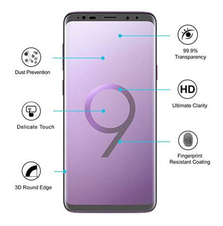 S9 Skärmskydd Fram- & Baksida 9H Nano-Soft HD-Clear