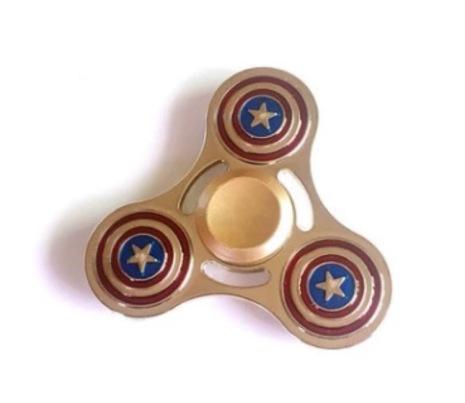 Fidget Spinner Metall - Shild (Lång spinntid)