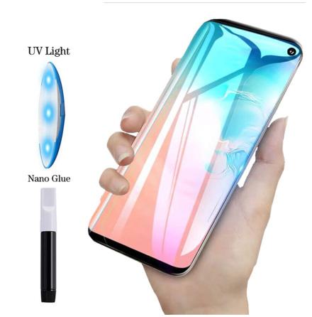 Samsung S10+ | Skärmskydd | UV | ProGuard | Inkl. Appliceringskit