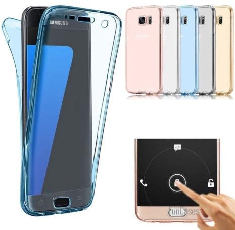 Samsung S8 Dubbelsidigt silikonfodral med TOUCHFUNKTION