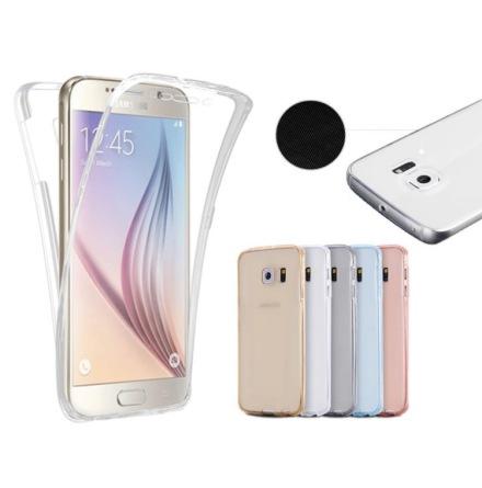 Samsung S8+ Dubbelsidigt silikonfodral med TOUCHFUNKTION