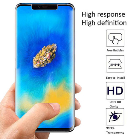 Mate 20 Pro Skärmskydd 9H Nano-Soft Screen-Fit HD-Clear