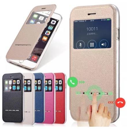 iPhone 5/5S/5SE  Smartfodral med fönster och svarsfunktion