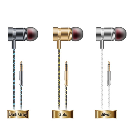 In-Ear Hörlurar i Metal (SUPER BASS) AUX