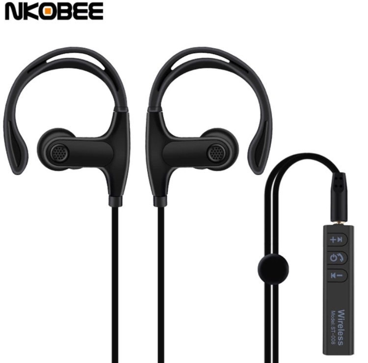 Wireless ST-008 Sport In-Ear 2 i 1 hörlurar med Bluetooth - mobilrex 12eca17d79c3d