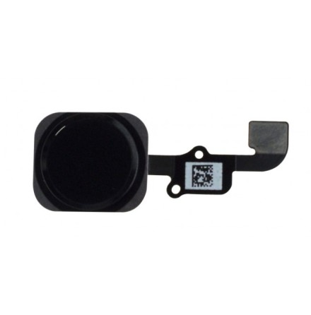 iPhone 6/6plus Hemknapp, komplett med ring och flex - Svart