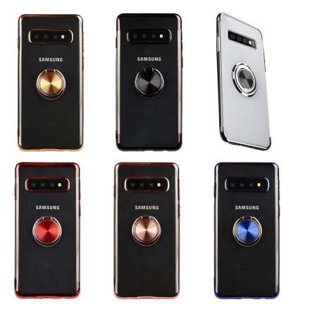 Samsung Galaxy S10E - Skyddande Silikonskal med Ringhållare