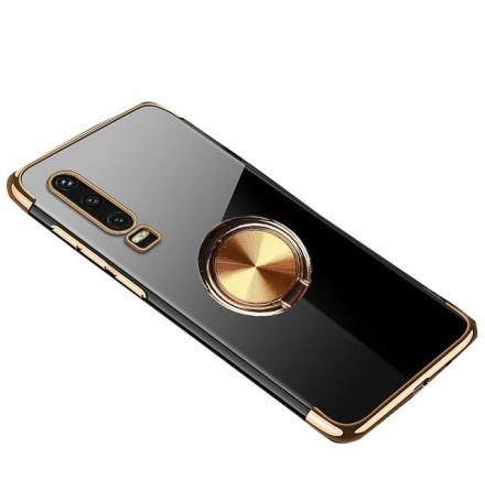 Huawei P30 - Skyddande Silikonskal med Ringhållare