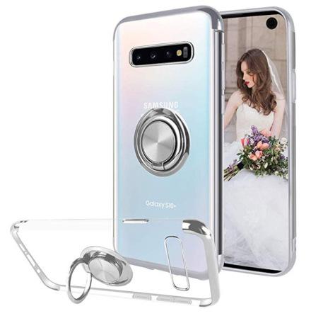 Samsung Galaxy S10 Plus - Skyddande Skal med Ringhållare