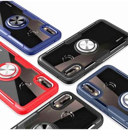 Samsung Galaxy A40 - Praktiskt Skal med Ringhållare (LEMAN)