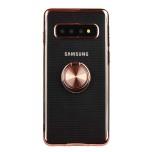Samsung Galaxy S10 - Stilsäkert Silikonskal med Ringhållare