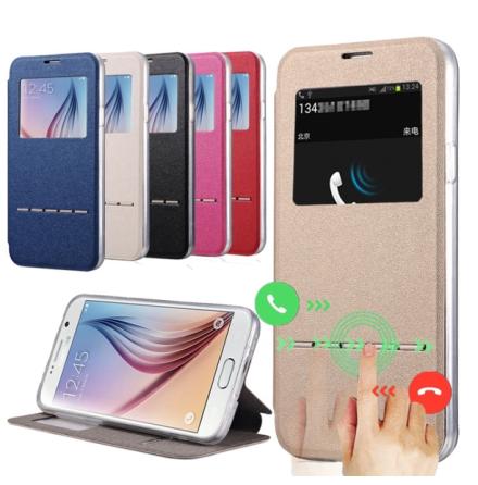 Samsung S6 Edge +  Smartfodral med fönster och svarsfunktion