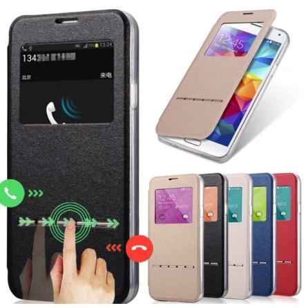 Samsung S6 Edge Plus - Smartfodral med fönster och svarsfunktion