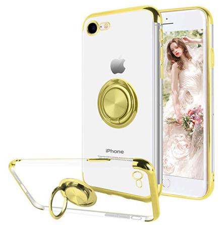 iPhone 7 - Skyddande Silikonskal med Ringhållare FLOVEME