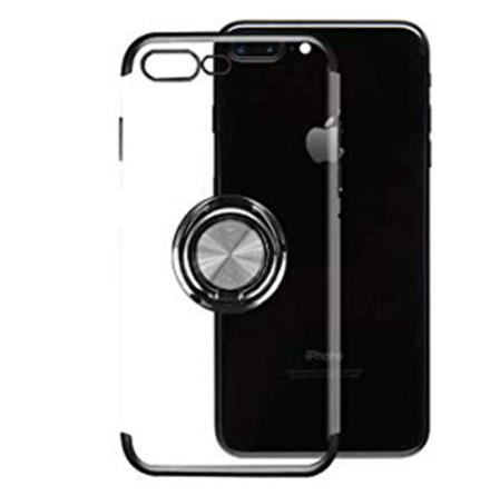 iPhone 7 Plus - Praktiskt Silikonskal FLOVEME med Ringhållare