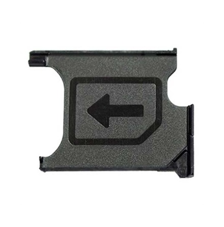Sony Xperia Z1/ Z1 Compact - SIM-kortshållare (SVART)