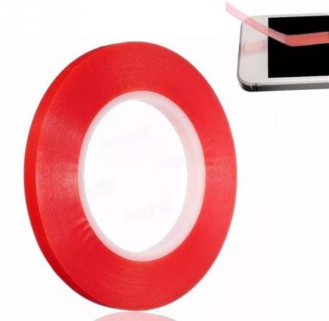 Dubbelhäftande tejp till mobiler/surfplattor (transparent) 3mm