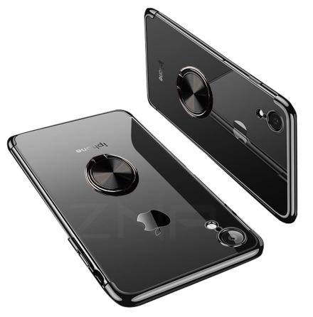 iPhone XR - Praktiskt Silikonskal med Ringhållare (FLOVEME)