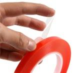 Dubbelhäftande tejp till mobiler/surfplattor (transparent) 8mm