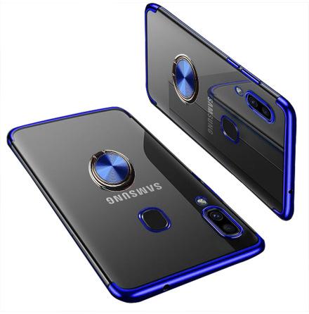 Samsung Galaxy A40 - Skyddande Silikonskal med Ringhållare