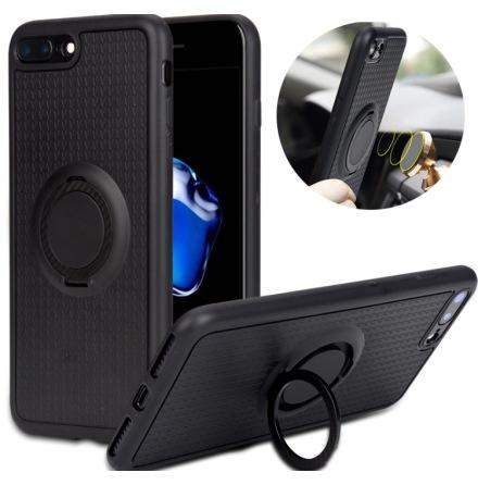 iPhone 5/5S/SE - Carbon Silikonskal med Ringhållare FLOVEME